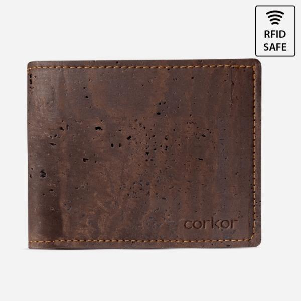 Brieftasche mit ID-Fenster (braun)