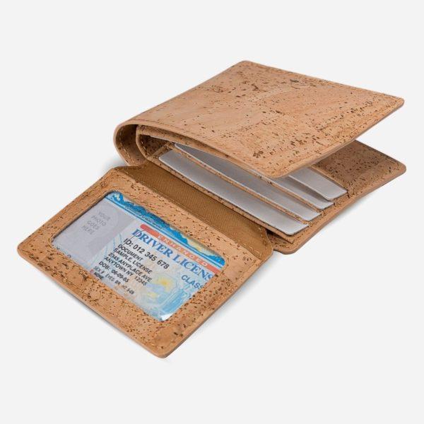 Brieftasche mit ID-Fenster (natur)