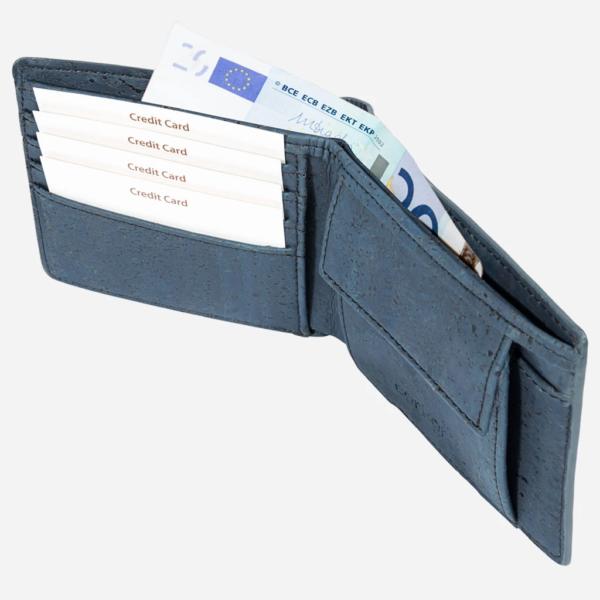 Geldbörse mit Münzfach blau