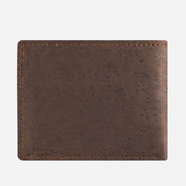Vegane Kork Geldbörse mit Münzfach (braun)