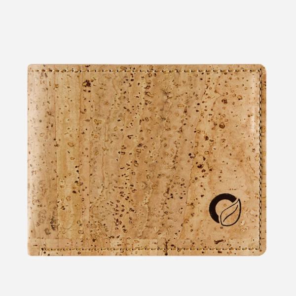 Vegane Kork Geldbörse mit Münzfach (natur)
