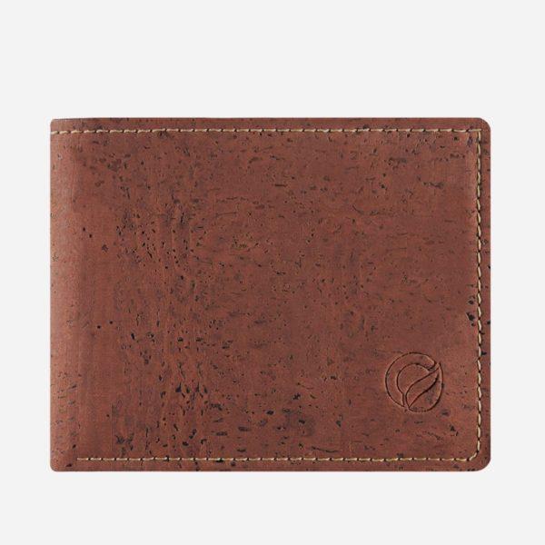 Vegane Kork Geldbörse mit Münzfach (rot)