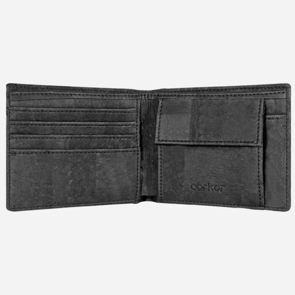 Geldbörse mit Münzfach schwarz