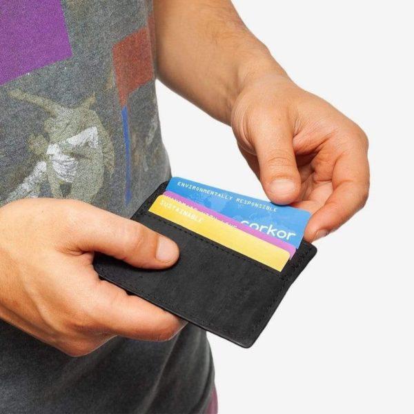 Kartenetui 2 Kork schwarz